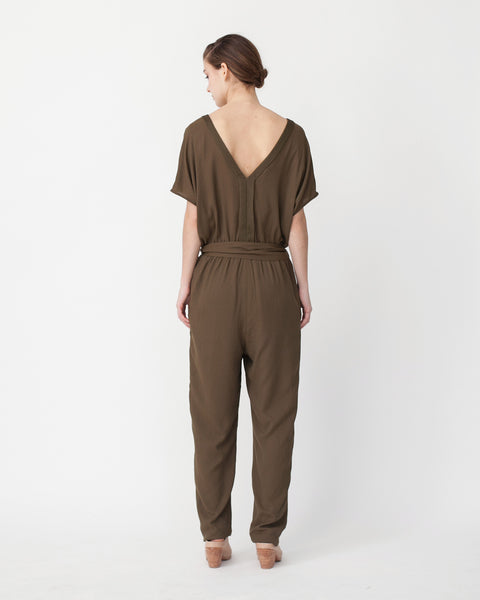 Mara Jumpsuit in Khaki - Founders & Followers - Sessun - 3