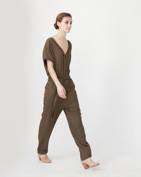 Mara Jumpsuit in Khaki - Founders & Followers - Sessun - 4