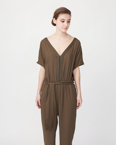 Mara Jumpsuit in Khaki - Founders & Followers - Sessun - 5