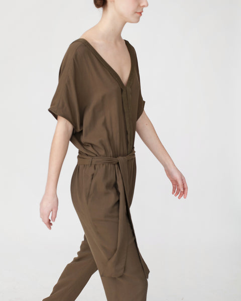 Mara Jumpsuit in Khaki - Founders & Followers - Sessun - 6