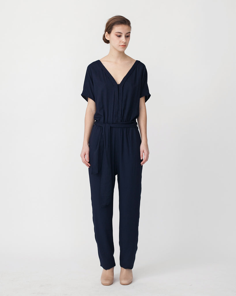Mara Jumpsuit in Navy - Founders & Followers - Sessun - 1