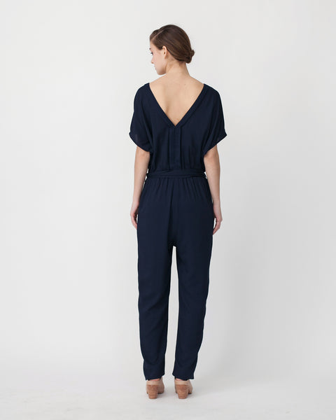 Mara Jumpsuit in Navy - Founders & Followers - Sessun - 3