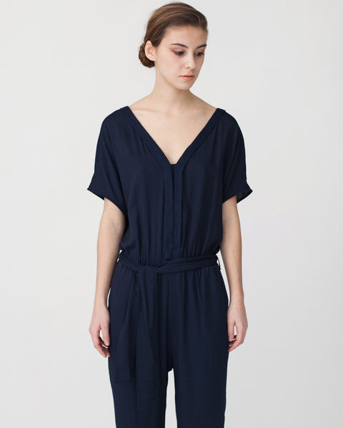 Mara Jumpsuit in Navy - Founders & Followers - Sessun - 5