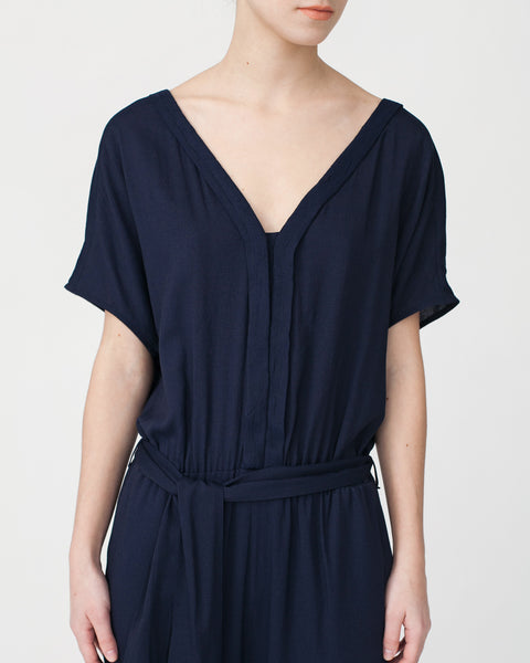 Mara Jumpsuit in Navy - Founders & Followers - Sessun - 6