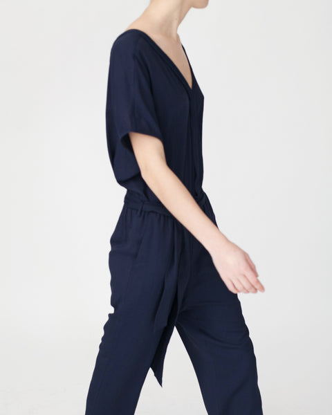 Mara Jumpsuit in Navy - Founders & Followers - Sessun - 7