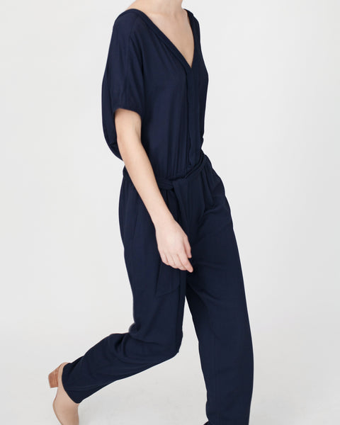 Mara Jumpsuit in Navy - Founders & Followers - Sessun - 8