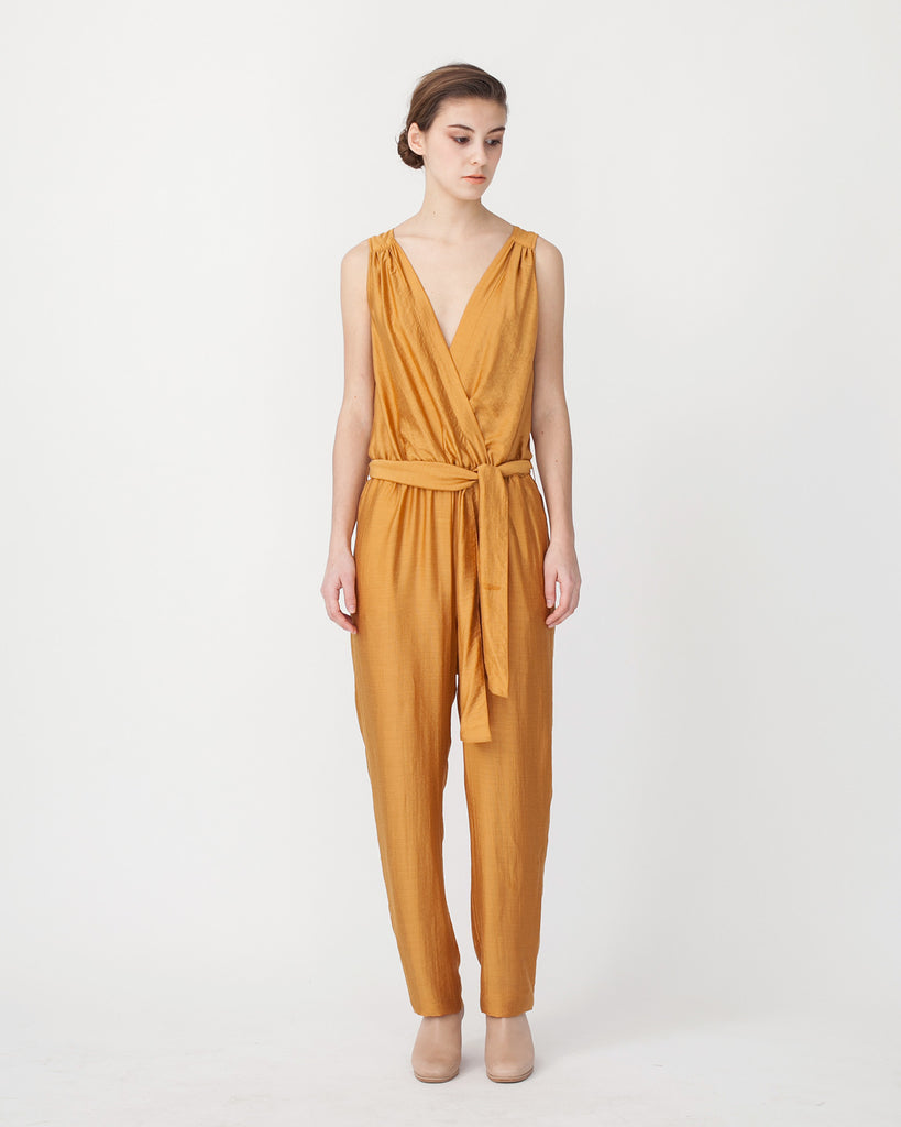 Victoire Jumpsuit in Mustard - Founders & Followers - Sessun - 1