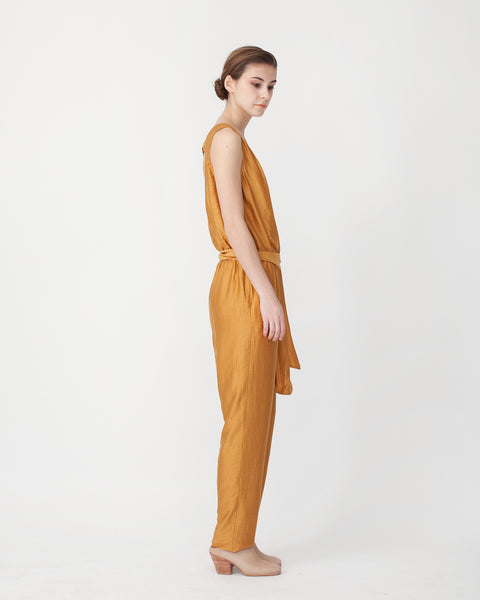 Victoire Jumpsuit in Mustard - Founders & Followers - Sessun - 2