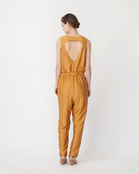 Victoire Jumpsuit in Mustard - Founders & Followers - Sessun - 3
