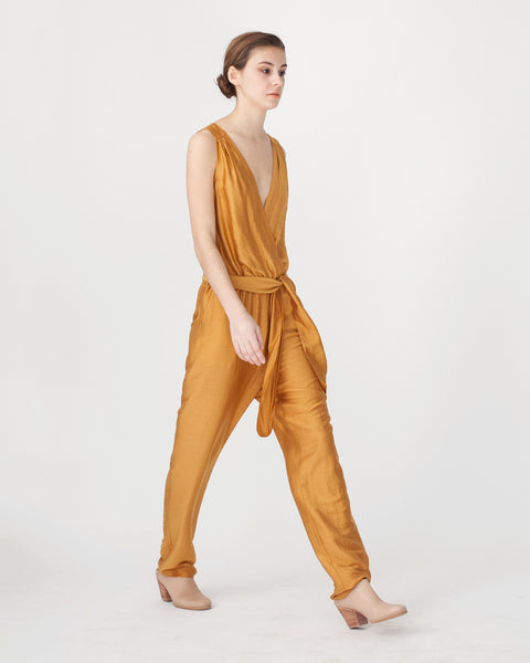 Victoire Jumpsuit in Mustard - Founders & Followers - Sessun - 4