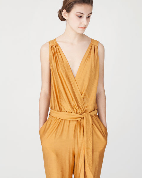 Victoire Jumpsuit in Mustard - Founders & Followers - Sessun - 5
