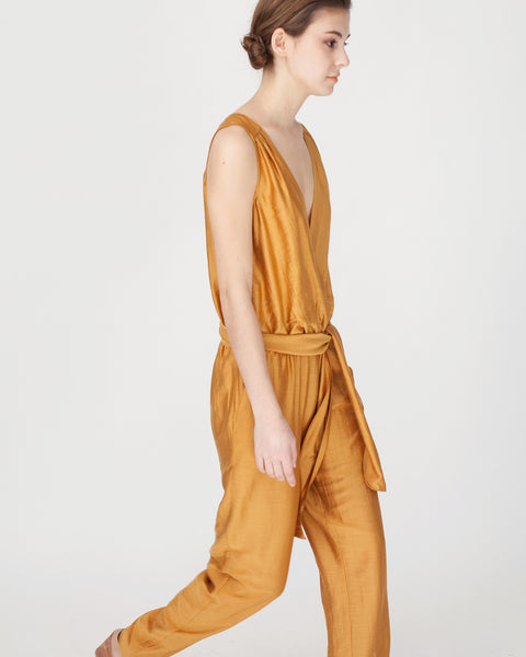 Victoire Jumpsuit in Mustard - Founders & Followers - Sessun - 6