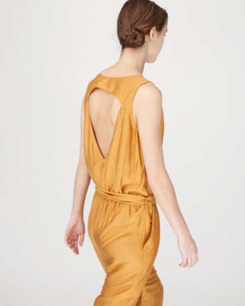 Victoire Jumpsuit in Mustard - Founders & Followers - Sessun - 7