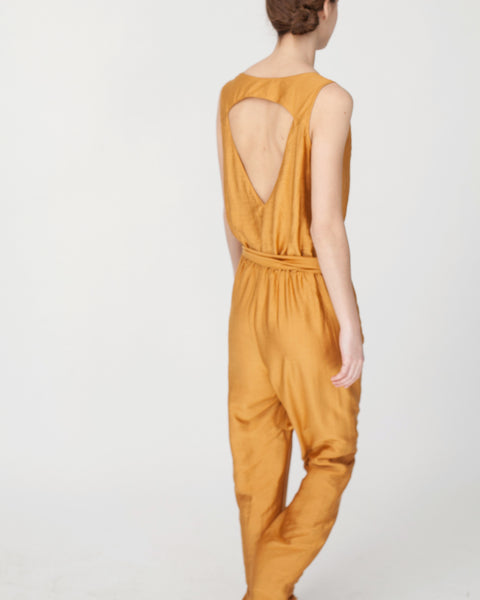 Victoire Jumpsuit in Mustard - Founders & Followers - Sessun - 8