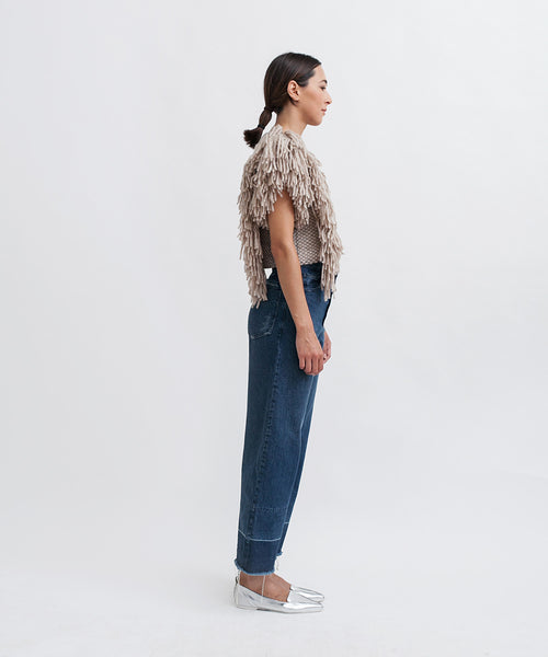 Cropped Fringed Alpaca Vest - Founders & Followers - Rachel Comey - 4