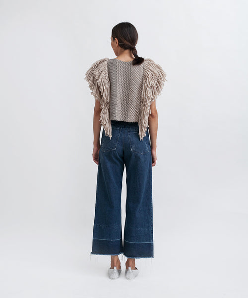 Cropped Fringed Alpaca Vest - Founders & Followers - Rachel Comey - 5