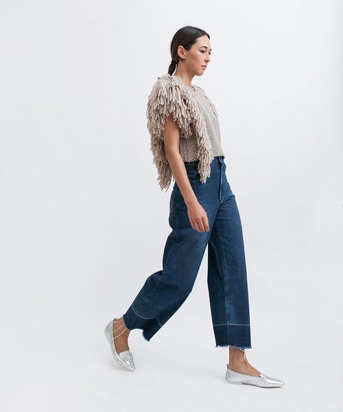 Cropped Fringed Alpaca Vest - Founders & Followers - Rachel Comey - 6