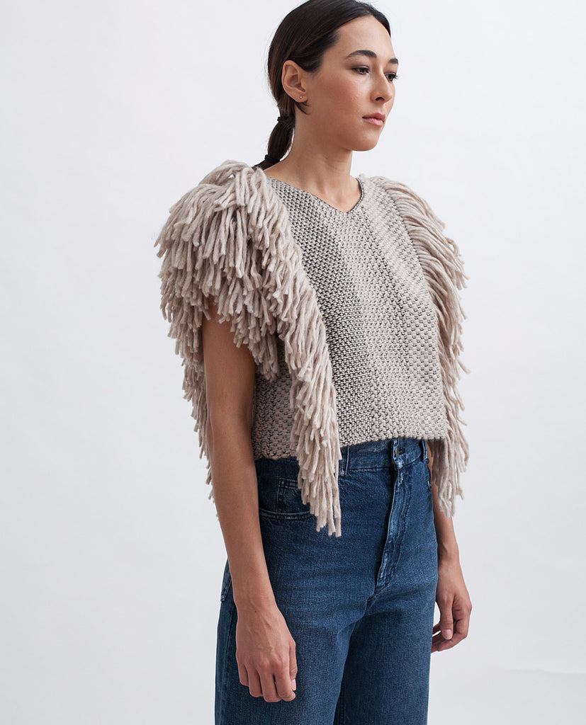 Cropped Fringed Alpaca Vest - Founders & Followers - Rachel Comey - 1