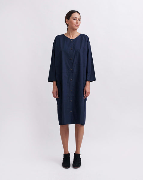 Cotton Workdress in Navy - Founders & Followers - Revisited Matters - 1