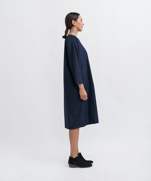 Cotton Workdress in Navy - Founders & Followers - Revisited Matters - 2