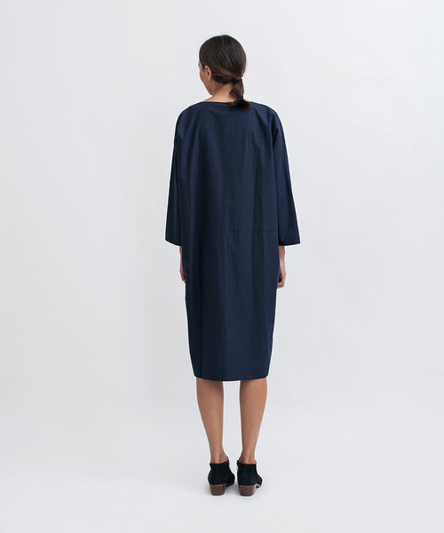 Cotton Workdress in Navy - Founders & Followers - Revisited Matters - 3