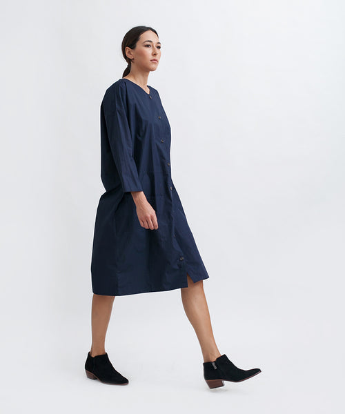 Cotton Workdress in Navy - Founders & Followers - Revisited Matters - 4