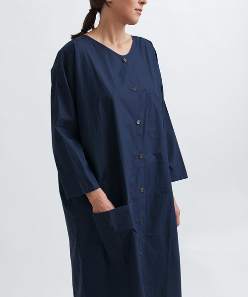 Cotton Workdress in Navy - Founders & Followers - Revisited Matters - 5
