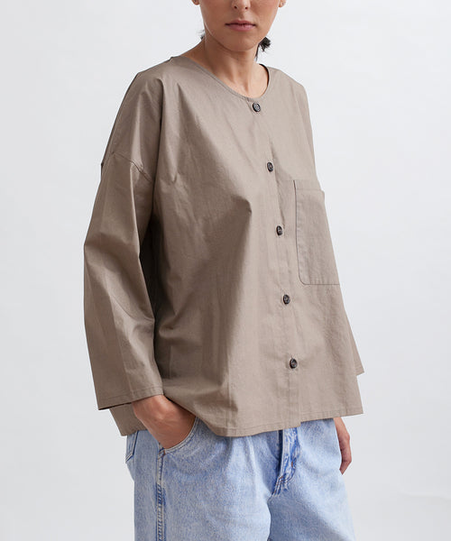 Cotton Workshirt in Stone - Founders & Followers - Revisited Matters - 5