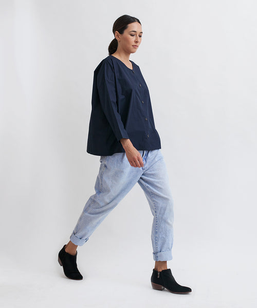Cotton Workshirt in Navy - Founders & Followers - Revisited Matters - 4