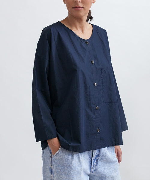 Cotton Workshirt in Navy - Founders & Followers - Revisited Matters - 5