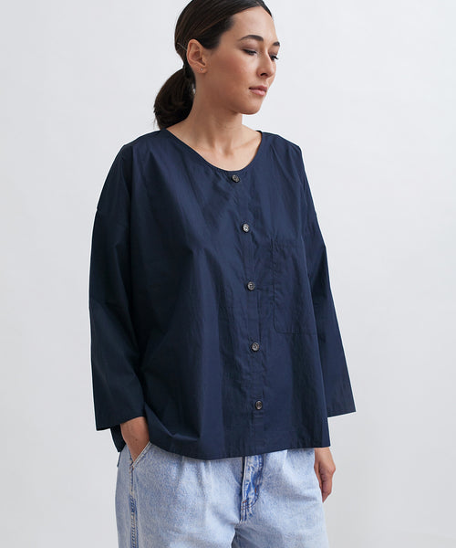 Cotton Workshirt in Navy - Founders & Followers - Revisited Matters - 6