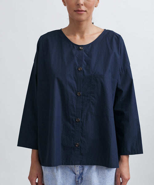 Cotton Workshirt in Navy - Founders & Followers - Revisited Matters - 7