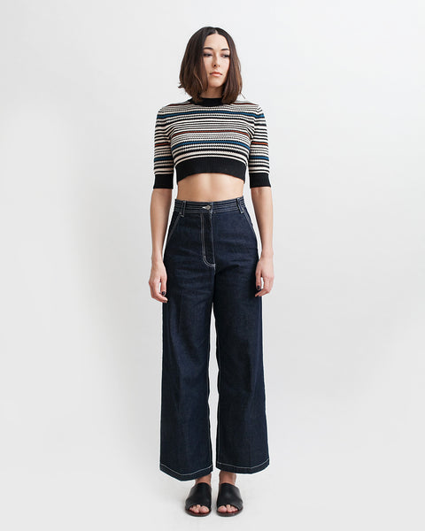 Bishop Pant in Dark Indigo - Founders & Followers - Rachel Comey - 6