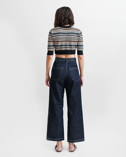 Bishop Pant in Dark Indigo - Founders & Followers - Rachel Comey - 8