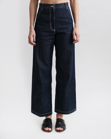 Bishop Pant in Dark Indigo - Founders & Followers - Rachel Comey - 1