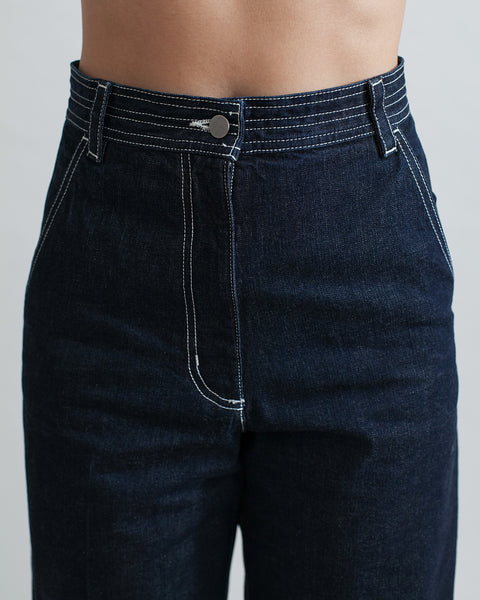 Bishop Pant in Dark Indigo - Founders & Followers - Rachel Comey - 4