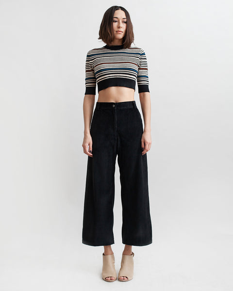 Bishop Pant in Black Corduroy - Founders & Followers - Rachel Comey - 2