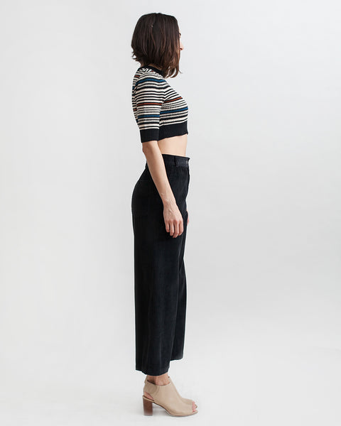 Bishop Pant in Black Corduroy - Founders & Followers - Rachel Comey - 3