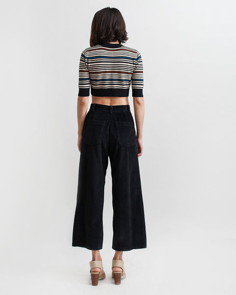 Bishop Pant in Black Corduroy - Founders & Followers - Rachel Comey - 4