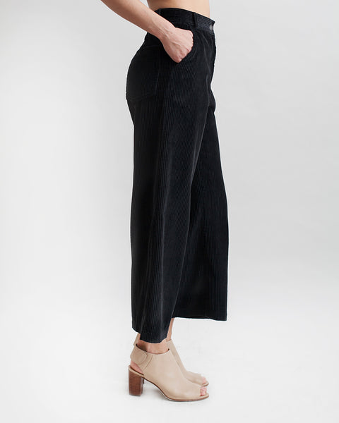Bishop Pant in Black Corduroy - Founders & Followers - Rachel Comey - 1