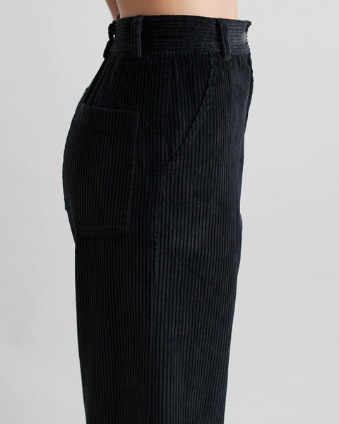 Bishop Pant in Black Corduroy - Founders & Followers - Rachel Comey - 7