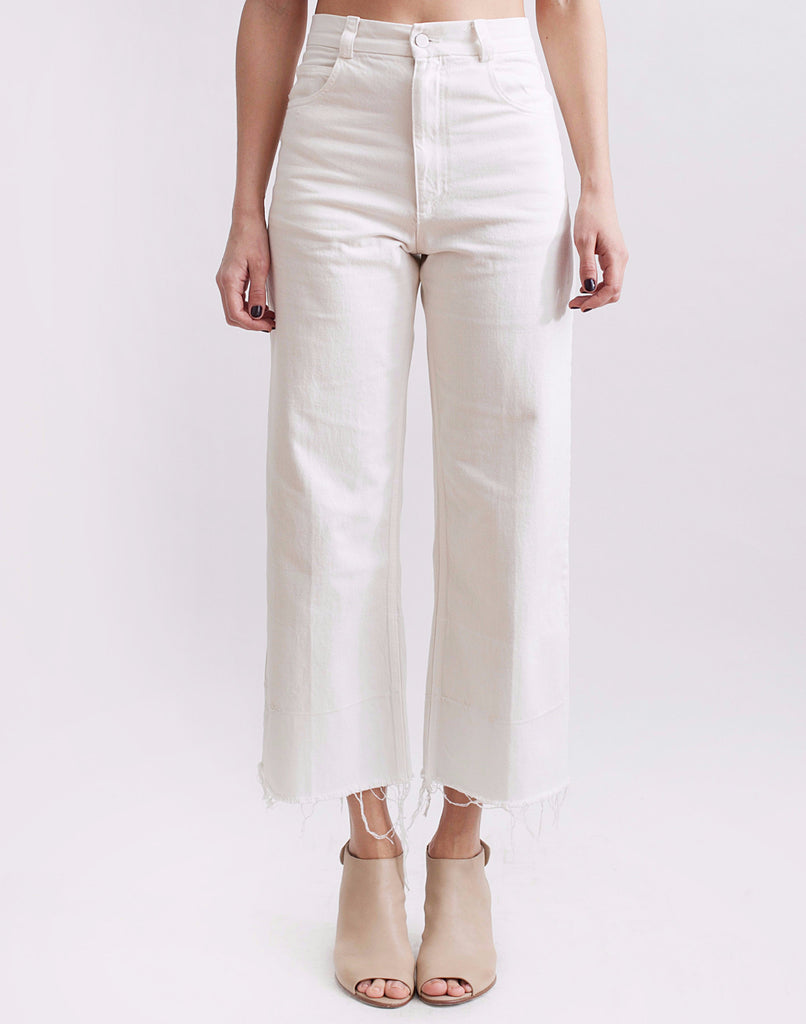 Legion Denim Pant in White - Founders & Followers - Rachel Comey - 1