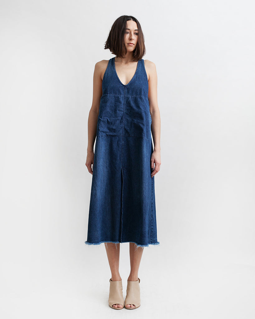 Buxton Denim Dress in Indigo - Founders & Followers - Rachel Comey - 1