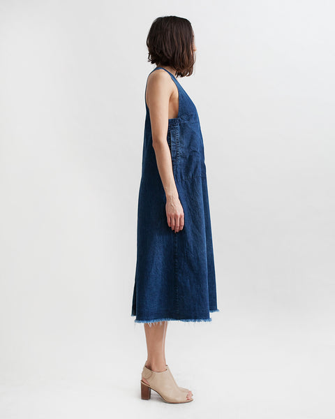 Buxton Denim Dress in Indigo - Founders & Followers - Rachel Comey - 2