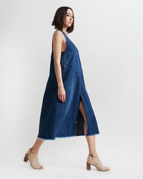 Buxton Denim Dress in Indigo - Founders & Followers - Rachel Comey - 4