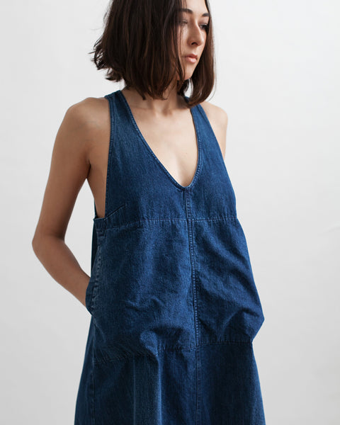 Buxton Denim Dress in Indigo - Founders & Followers - Rachel Comey - 6
