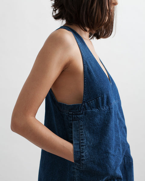 Buxton Denim Dress in Indigo - Founders & Followers - Rachel Comey - 7