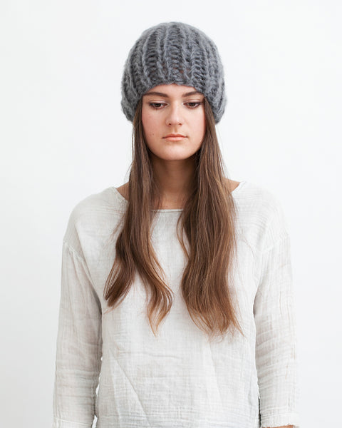 Mohair Basic Cap in Grey - Founders & Followers - Maiami - 3