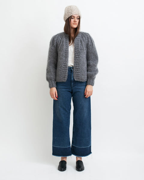 Mohair Pleated Short Cardigan - Founders & Followers - Maiami - 2