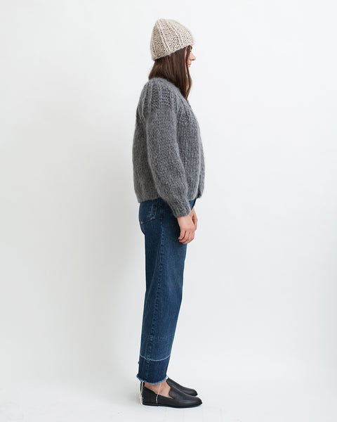 Mohair Pleated Short Cardigan - Founders & Followers - Maiami - 3